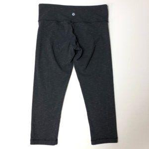 lululemon athletica Pants & Jumpsuits - Lululemon dark gray stripe crop legging 6 EUC